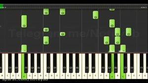 """نت پیانو """" رابطه """" افشین آذری Synthesia"""
