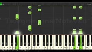 "نت پیانو "" عشق جان "" امین رستمی Synthesia"