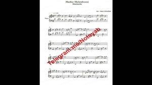 "نت پیانو "" حدیث مهربونی "" شادمهر عقیلی"