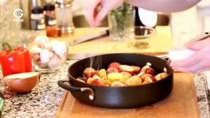 آشپزی با تاتیانا - املت سبزیجات و سوسیس و قارچ