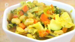 طرز تهیه سوپ سبزیجات و لوبیا سفید