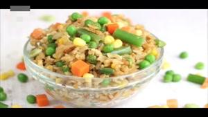 طرز تهیه برنج قهوه ای با سبزیجات