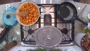 آشپزي امروز - گوشت رون خوک و سبزیجات