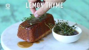 طرز تهیه کیک لیمو و آویشن