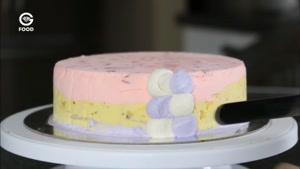 تزیین کیک - کیک رنگی رنگی برای فارغ التحصیلی