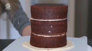 تزیین کیک با گل رز صورتی