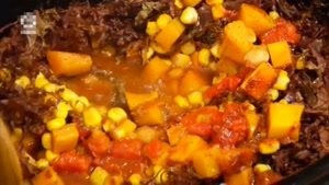 طرز تهیه سوپ سبزیجات و کدو کردویی