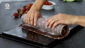 آشپزی خانگی - رولت شکلاتی