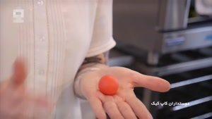 طرز تهیه کاپ کیک قلبی همراه با نوشته