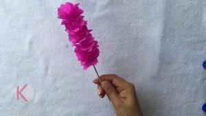 آموزش ساخت گلهای کاغذی به روشی بسیار ساده