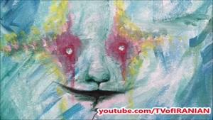 دختر جوان مبتلا به بیماری اسکیزوفرنی توهمات خود را نقاشی میکند!