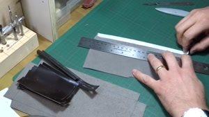 آموزش دوخت کیف چرمی مردانه