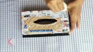 آموزش ساخت جعبه دستمال کاغذی