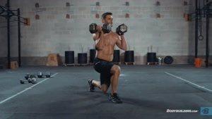 اموزش بدن سازی fitness کارکردن با دمبل