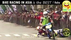 ویدیو خنده دار تنه زدن در مسابقه موتور سواری