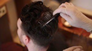 اصلاح موی سر مردانه و کراتینه کردن مو