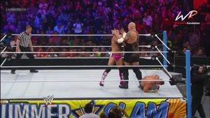 مسابقه کشتی کج جان سینا و س ام پانک و بیگ شو John Cena vs CM Punk vs Big Show