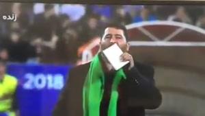 سلام دادن بر امام حسین علیه السلام در بازی جام جهانی