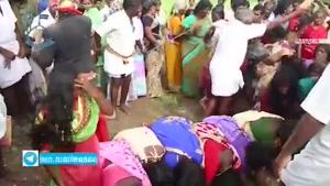 مراسم شلاق زدن زنان در هندوستان