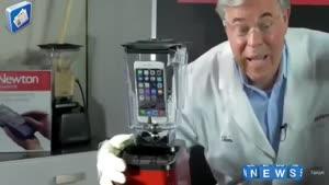 انداختن iphone ۶ plus در همزن