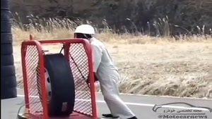 قدرت انفجار تایر در هنگام باد زدن! به همین دلیل تایرهای بزرگ رو داخل قفسه باد میزنند