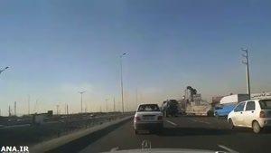 تعقیب و گریز پلیس تا واژگون شدن اتومبیل
