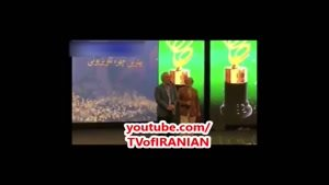 مهران مدیری لحظه دریافت تندیس جشن حافظ: رفته بود سیگار بکشه!