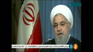 موضع رئیس جمهور روحانی در مقابل مذاکره با آمریکا