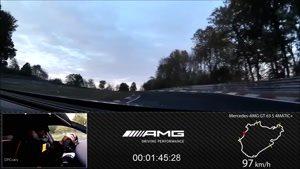 رانندگی از نگاه دوربین راننده خودرو مرسدس بنز مدل AMG GT63S