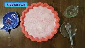 دسر هندوانه با بستنی