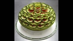 طرحهای مختلف روی هندوانه