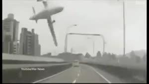 صحنه سقوط هواپیمایی در تایوان