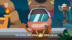 انیمیشن آموزش های شاد با لاروا - Ten Little Larva