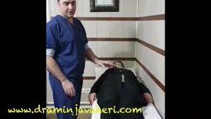 معاینه بیمار بعد از جراحی تعویض مفصل لگن