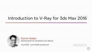 آموزش VRay ۳.۳ در ۳dMax ۲۰۱۶