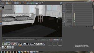 آموزش طراحی داخلی با Vray در Cinema ۴D