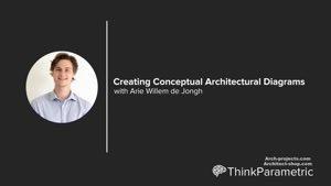 آموزش ایجاد دیاگرام کانسپت معماری با Rhino