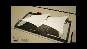 ۰۲۱۲۶۲۰۷۸۲۸ سقف سایبان استادیوم - سقف سایبان زمین ورزشی - سقف سایبان زمین بازی