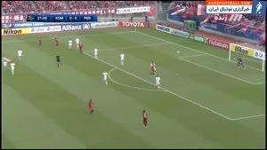 ورود جیمی جامپ ایرانی به زمین، بازی پرسپولیس و کاشیما را بهم زد!