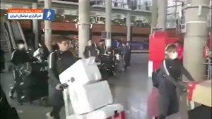 فیلم؛ اقدام عجیب بازیکنان کاشیما آنتلرز در لحظه ورود به ایران که موجب تعجب همگان شد !