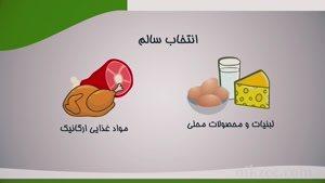 آموزش بشقاب غذای سالم