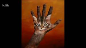 نقاشی زیبا روی دست
