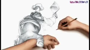 ابتکار در نقاشی با مداد