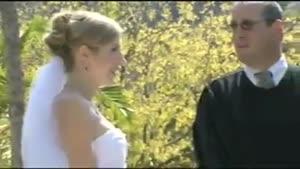 افتادن عروس در آب