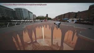 نقاشی سه بعدی در خیابان