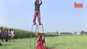 شیرین کاری زن و شوهر شگفت انگیز در هند.