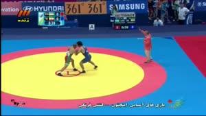 بازی های آسیایی - کشتی فرنگی ایران - ازبکستان