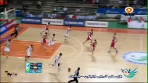بسکتبال ایران ۱۰۷ - ۶۹ مغولستان کوارتر چهارم