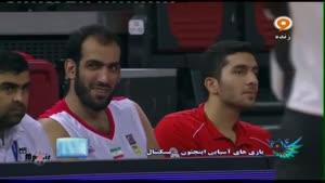 بسکتبال ایران ۸۲ - ۵۹ ژاپن کوارتر چهارم