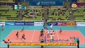 بازی های آسیایی - والیبال ایران ۳ - ۰ هند ست اول